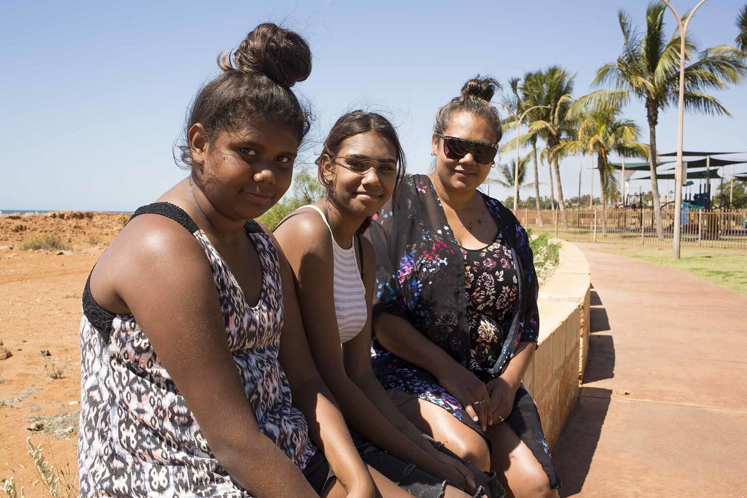 Aboriginal Young People And Mum Port Hedland