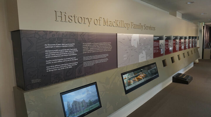 MacKillop's Heritage Display History Wall
