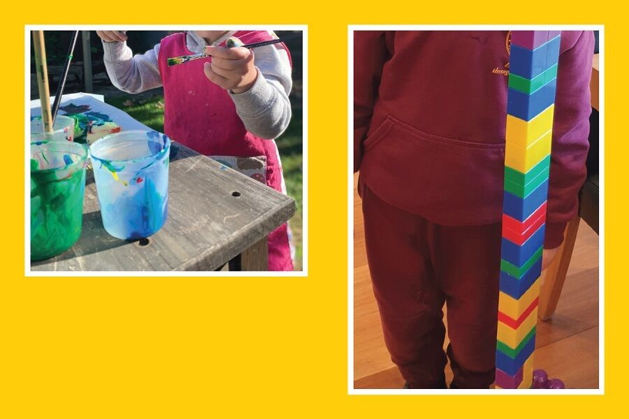 Covid Challenge Painting And Playing With Colourful Lego